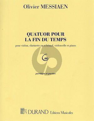 Messiaen Quatuor pour la Fin du Temps Clar.[Bb]-Violin-Violoncello-Piano Score/Parts