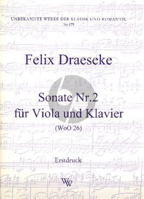 Draeseke Sonate No.2 WoO 26 Viola und Klavier (Alan Krück)