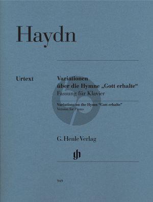 """Variationen G-dur uber die Hymne """"Gott erhalte"""" aus dem """"Kaiserquartett"""" Hob.III:77"""