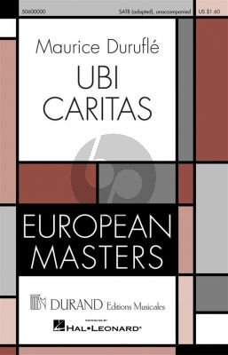 Durufle Ubi Caritas (4 Motets No.1) (SATB)