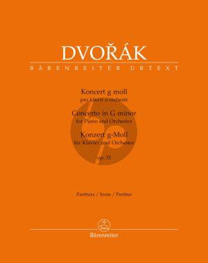Dvorak Konzert g-moll Op.33 B 63 Klavier und Orchester (Partitur) (herausgeber Robbert van Steijn)