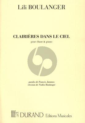 Boulanger Clairieres dans le Ciel pour Chant et Piano (Paroles de Francis Jammes) (Revision de Nadia Boulanger)
