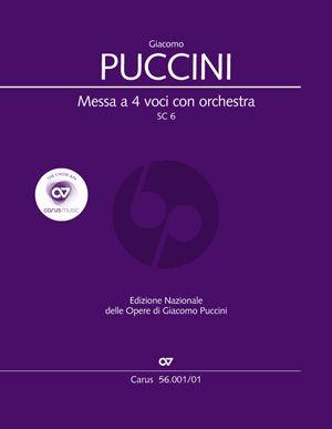 Puccini Messa a 4 Voci (Messa di Gloria) (Soli-Choir- Orch.) (Full Score) (lat.) (edited by Dieter Schickling)