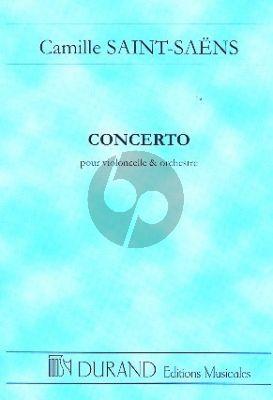 Saint-Saens Concert No.1 Op.33 Violoncelle et Orchestre (Study Score)