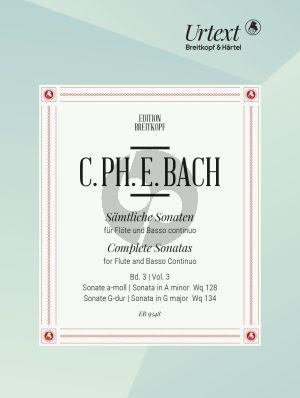 Bach Sonatas Vol. 3 No. 5 - 6 WQ 128 - WQ 134 Flute-Bc (edited by Ulrich Leisinger)