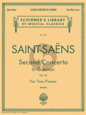 Saint-Saens Concerto No.2 Op. 22 Piano and Orchestra (piano reduction) (edited by Isidore Philipp)