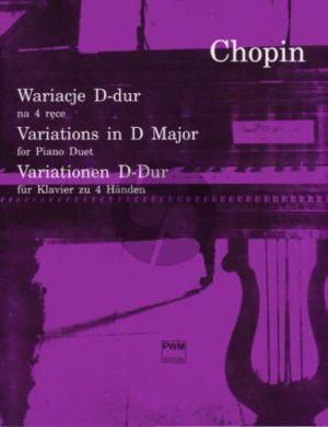 Variations D-major Piano 4 hds