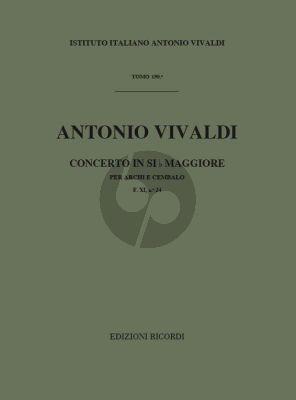 Vivaldi Concerto B-flat major RV 167 F. XI No. 24 Strings and Bc score (Score) (edited by G.F. Malipiero)