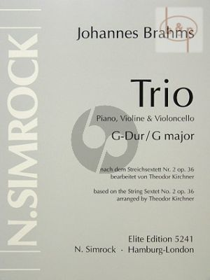 Trio G major after Sextet No.2 Op.36