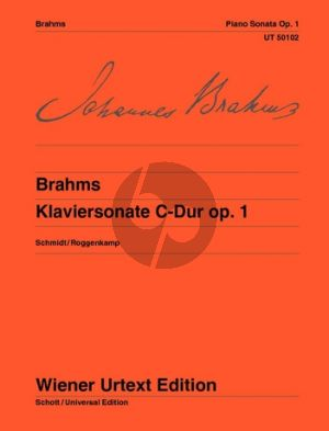 Brahms Sonate C-dur Op.1 Klavier (Schmidt/Roggenkamp)