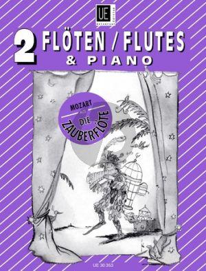 Mozart Die Zauberflöte (Ausgewählte Stücke) 2 Flöten-Klavier