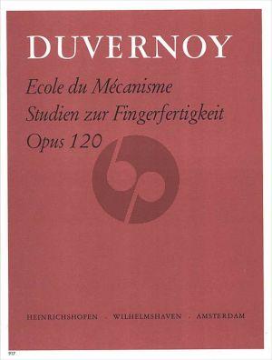 Duvernoy Ecole du Mecanisme Op.120 Klavier