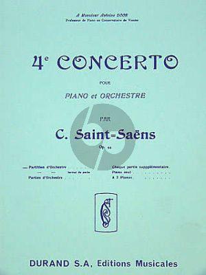 Saint-Saens Concert No.4 Opus 44 Piano et Orchestre (Study Score)