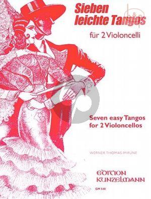 7 Leichte Tangos 2 Violoncellos