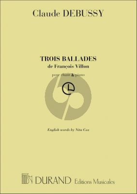 3 Ballades de Francois Villon (French/English)