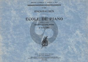 Enckhausen Ecole de Piano Op.84 vol.2 Piano 4 mains