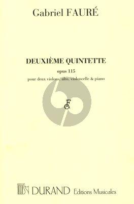 Faure Quintet No.2 Op.115 Piano et 2 Violons-Alto et Violoncello (Part./Parties)