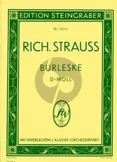 Burleske d-moll Klavier und Orchester 2 Klaviere