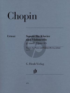 Chopin Sonate g-moll Op.65 Violoncello-Piano (edited by Ewald Zimmermann) (Henle-Urtext)