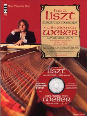 Liszt Weber Piano Concerto No.1 E-Flat Major - C.M. von Weber Concertstuck Op.79 Book with Cd (Music Minus One)