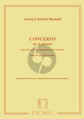 Handel Concert Si-mineur Alto-Piano (Henri Casadesus)
