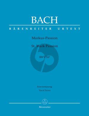 Bach Markus Passion BWV 247 (Vocal Score) (Barenreiter)