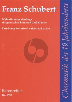 Schubert Mehrstimmige Gesänge für gemischte Stimmen und Klavier