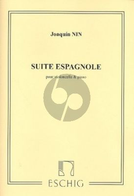 Nin Suite Espagnole Violoncelle-Piano