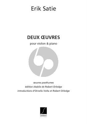 Satie 2 Oeuvres Violon et Piano