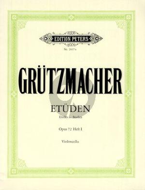 Grutzmacher Etuden Op.72 Vol.1 Violoncello (mit Begleitung eines zweiten Violoncellos ad lib.) (2 Stimmen)