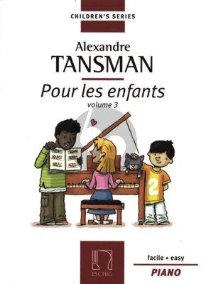 Tansman Pour les Enfants Vol.3 Piano (Facile - Easy)