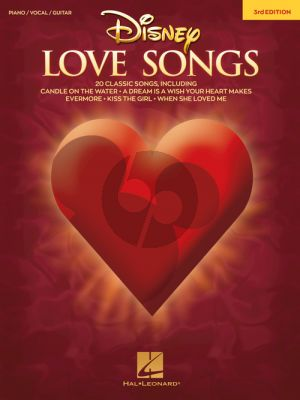 Disney Love Songs Piano-Vocal-Guitar (3rd. edition)