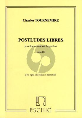 Postludes Libres pour des Antiennes de Magnificat op.68 Orgue sans Pedales ou Harmonium