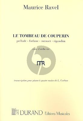Ravel Le Tombeau de Couperin Piano 4 mains