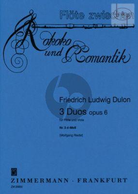 3 Duos Op.6 No.3 d-minor