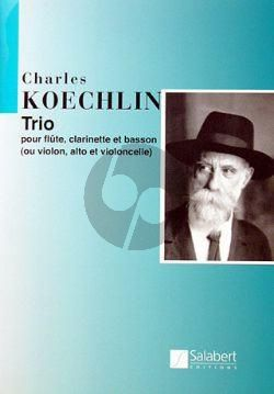 Koechlin Trio op.92 Flute-Clarinet-Basson Score