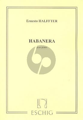 Halffter Habanera for Piano Solo