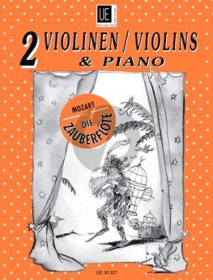 Mozart Die Zauberflote (Ausgewählte Stücke) 2 Violinen-Klavier