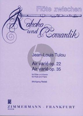 Tulou Air Varie Op. 22 und Op. 35 Flöte und Klavier (Wolfgang Riedel)
