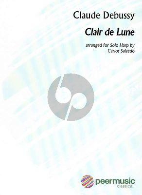 Debussy Clair de Lune Harp Solo (arr. by Carlos Salzedo)