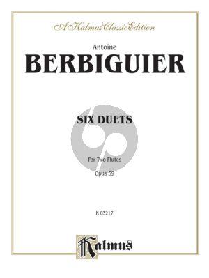 Berbiguier 6 Duets Op.59 2 Flutes