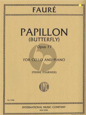 Faure Papillon (Butterfly) Op.77 Violoncello-Piano (Pierre Fournier)