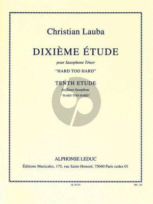 Lauba Etude No. 10 Hard too Hard Saxophone Tenor