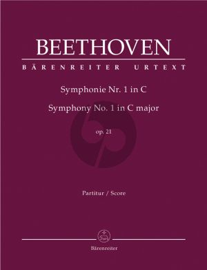 Beethoven Symphony No.1 C-major Op.21 Full Score (edited by Jonathan Del Mar)