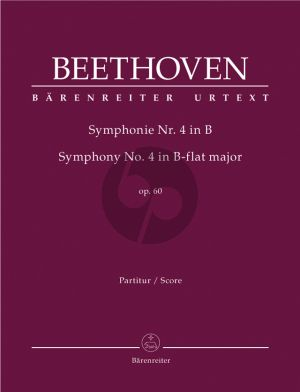 Beethoven Symphony No.4 B-flat major Op.60 Sull Score (edited by Jonathan Del Mar)