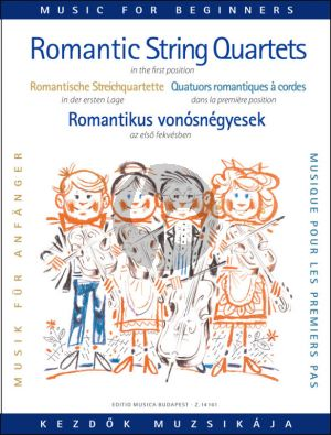 Album Romantic String Quartets for Beginners (First Pos.) (Score-Parts) (edited by Árpád Pejtsik and Lajos Vigh)