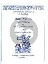 Lidl 3 Sonatas Viola da Gamba and Violoncello