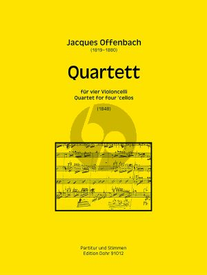 Offenbach Quartett (1848) 4 Violoncellos (Part./Stimmen)