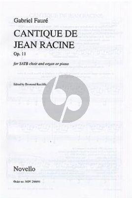 Cantique de Jean Racine vocalscore