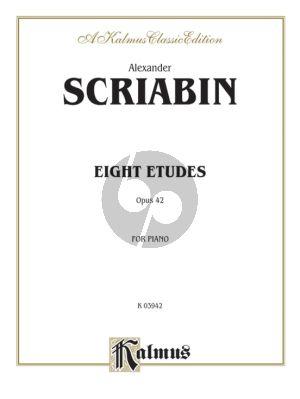 Scriabin 8 Studies Op. 42 Piano solo